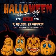 Halloween costume party design template Instagram Post