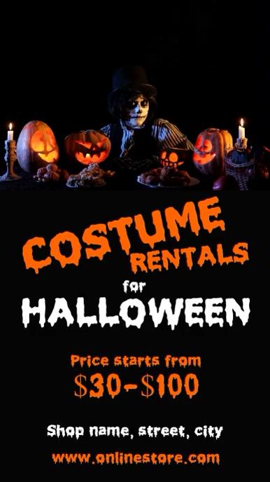 Halloween costume party História do Instagram template
