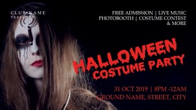 Halloween costume party Vidéo de couverture Facebook (16:9) template