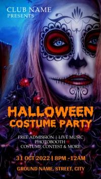 Halloween costume party Instagram-verhaal template