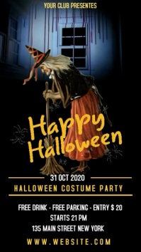 Halloween costume party Instagram Story template