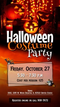 Halloween Costume Party Digital Display Video