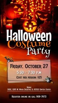 Halloween Costume Party Digital Display Video