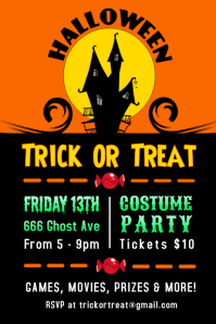 Halloween Costume Party Event Poster Template