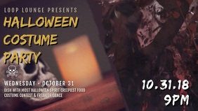 Halloween Costume Party Facebook Cover Video