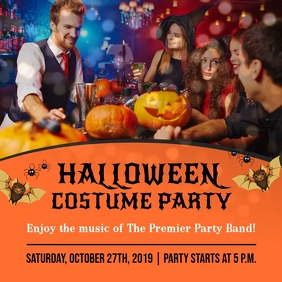 Halloween Costume Party Instagram Video Square (1:1) template