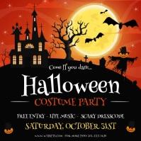 Halloween Costume party invitation animated Instagram-Beitrag template