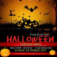Halloween Costume party invitation animated Publicación de Instagram template