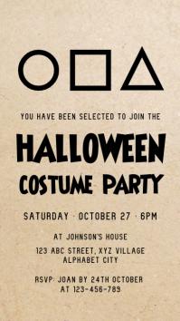 Halloween Costume Party Invitation Instagram-verhaal template