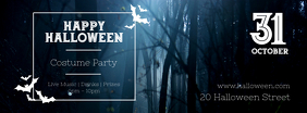 Halloween Costume Party Invitation Facebook Cover Template
