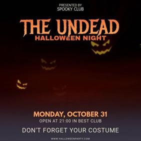 Halloween Costume Party Invitation Square Video