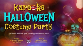 Halloween Costume Party Karaoke Video Template