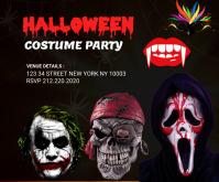 halloween costume party medium rectangle template
