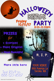 Halloween Costume Party PosterTemplate