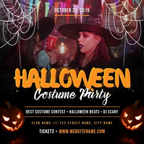 Halloween Costume Party Square Video
