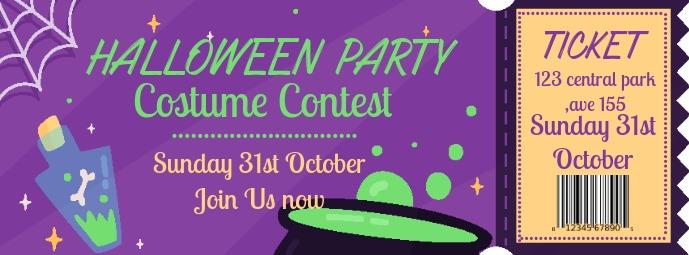 Halloween Costume Party Ticket