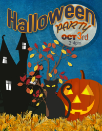 Halloween Costume Pumpkin party flyer
