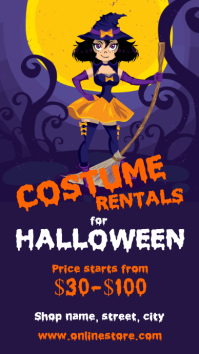 Halloween costume rentals
