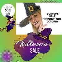 Halloween costume sale October Pos Instagram template