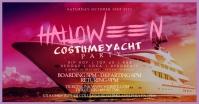 Halloween Costume Yacht Party Post Template Gambar Bersama Facebook