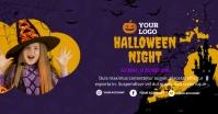 Halloween Cover Banner Facebook Gedeelde Prent template