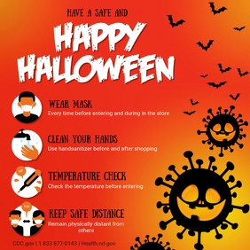 Halloween Covid-19 Shopping Guidelines Instagram-opslag template