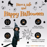 Halloween Covid-19 Shopping Guidelines Iphosti le-Instagram template