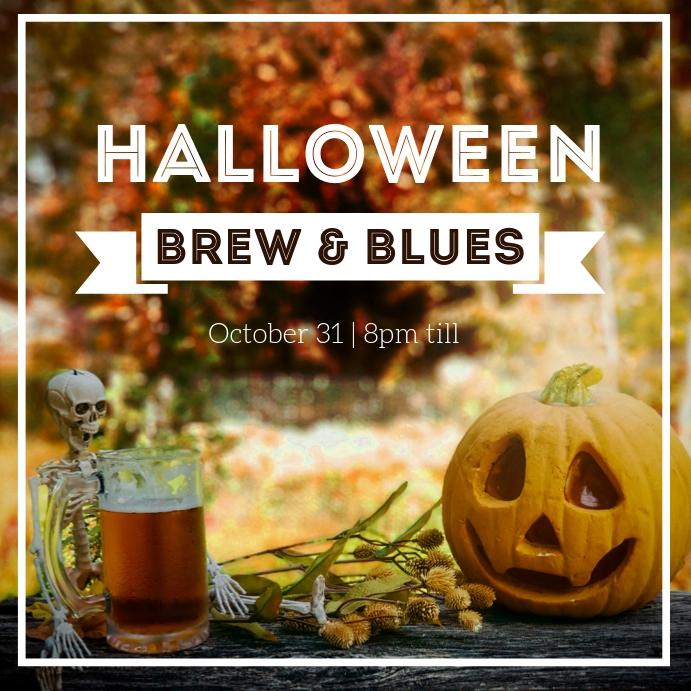 Halloween Craft Beer Festival Instagram post template