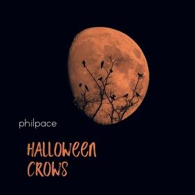 Halloween Crow Moon Black Mixtape Cover Music Albumcover template