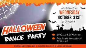 Halloween Dance Horizontal Digital Display Video template
