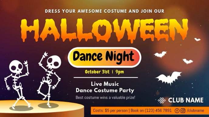 Halloween Dance Night Digital Display Video
