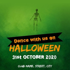 Halloween dance party Square (1:1) template