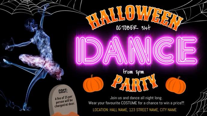 Halloween Dance Party Digital Display Video template
