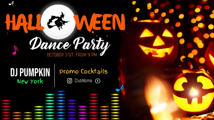 Halloween Dance Party Horizontal Video