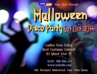 Halloween Dance Party video Flyer (US Letter) template