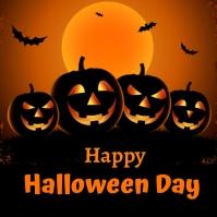 halloween day Instagram-opslag template