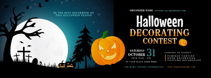 Halloween Decorating Contest Facebook Cover P Facebook-coverfoto template