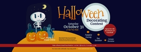 Halloween Decorating Contest Facebook Cover P template