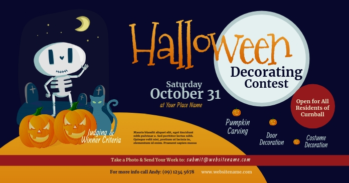 Halloween Decorating Contest Facebook Shared template