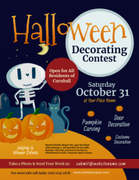 Halloween Decorating Contest Flyer Ulotka (US Letter) template