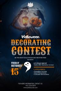 Halloween Decorating Contest Poster Plakat template