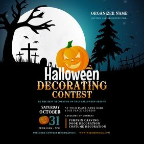 Halloween Decorating Contest Instagram Post template