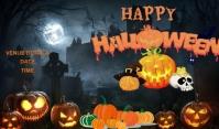 Halloween Etykietka doczepna template