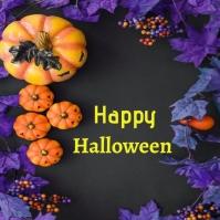 halloween โพสต์บน Instagram template