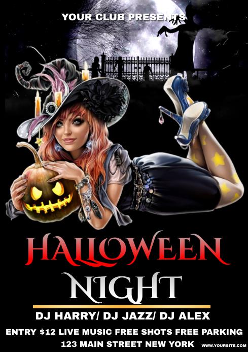 Halloween A4 template