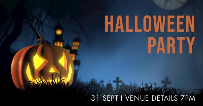 Halloween Copertina evento Facebook template