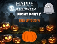 Halloween Flyer (US Letter) template
