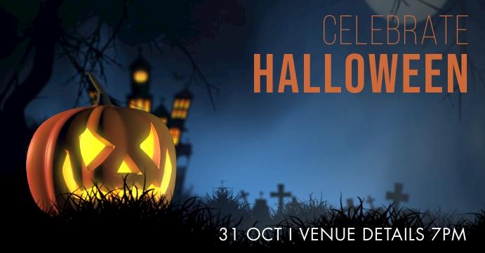Halloween Sampul Acara Facebook template