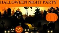 Halloween Facebook-omslagvideo (16: 9) template
