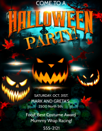 HALLOWEEN PARTY INVITE Flyer (US Letter) template